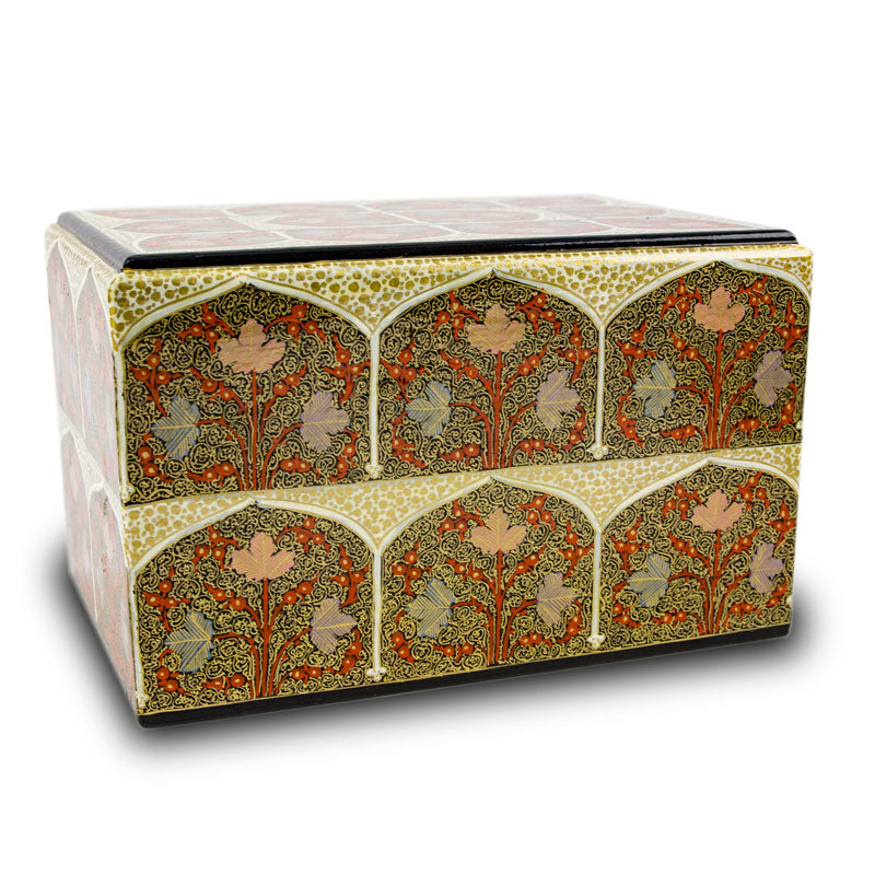 Mughal Leaves Cremation Urn Box