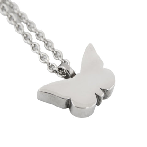 Butterfly Stainless Steel Cremation Pendant