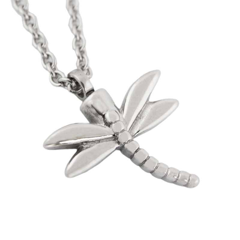 Dragonfly Cremation Pendant - Stainless Steel
