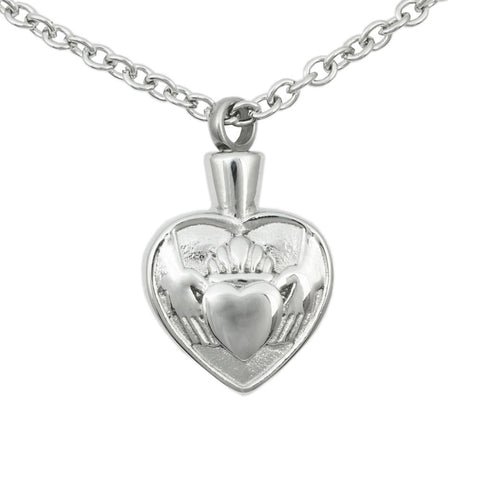 Stainless Steel Claddagh Cremation Pendant