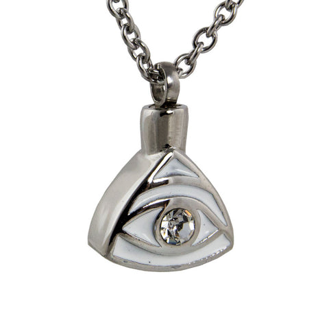 Eye of Providence Cremation Pendant - Stainless Steel