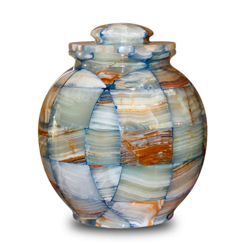 Canyon Marble Cremation Urn for Ashes