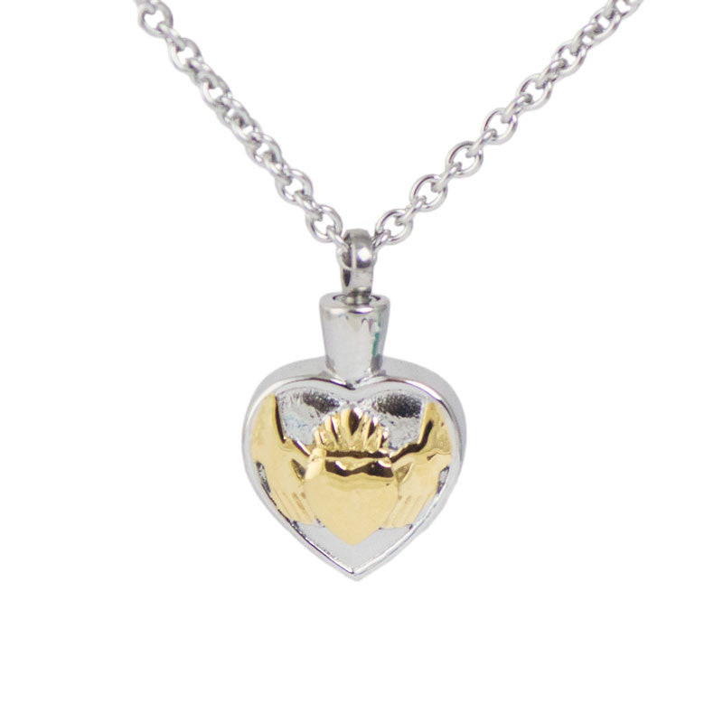 Golden Claddagh Cremation Pendant