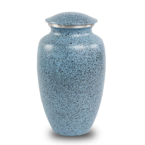 Two-Tone Blue Classic Cremation Urn - Large