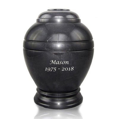 Midnight Marble Cremation Urn - Large