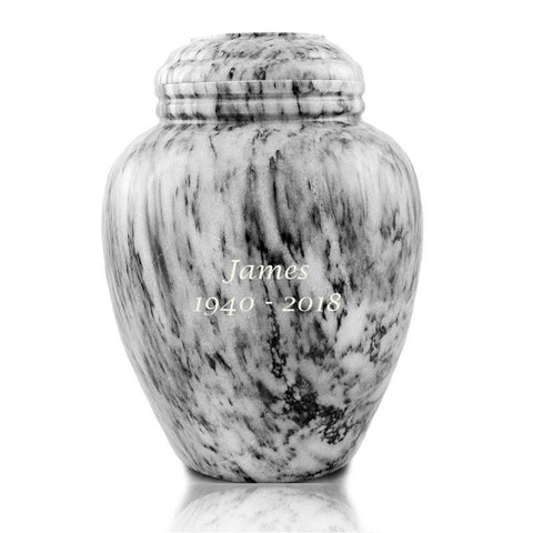 Smoky Canyon Marble Cremation Urn - Large