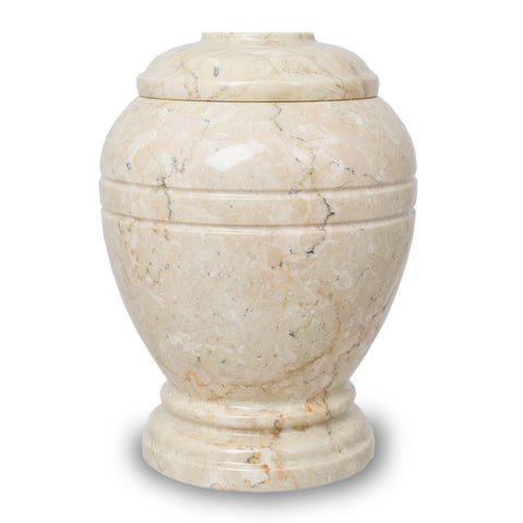 Ringed Alluvium Marble Cremation Urn - Extra Small
