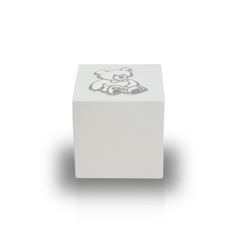 Baby White Teddy Bear Infant Cremation Urn