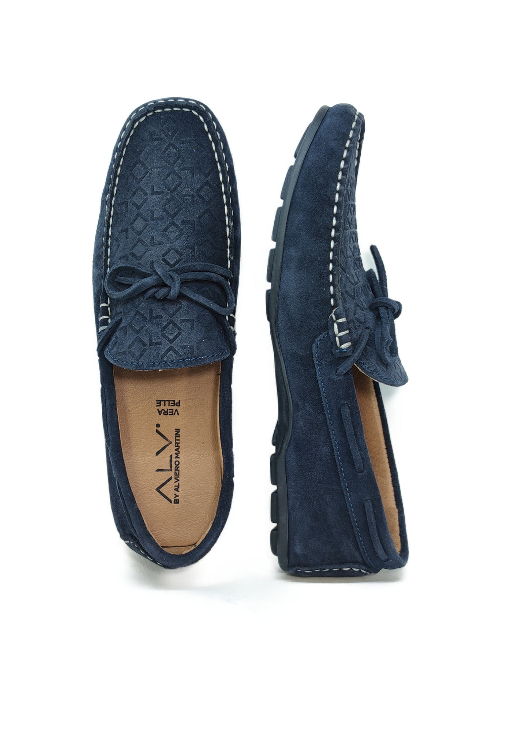 ALV205 BLUE - Mocassino uomo