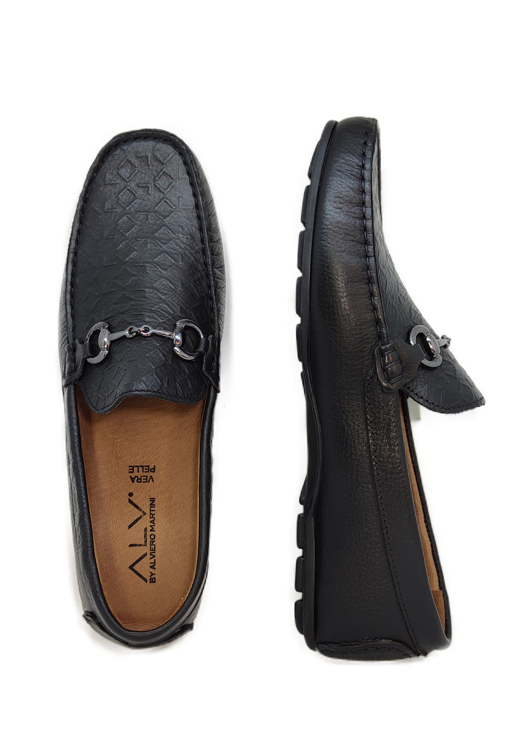ALV206 BLACK - Mocassino uomo