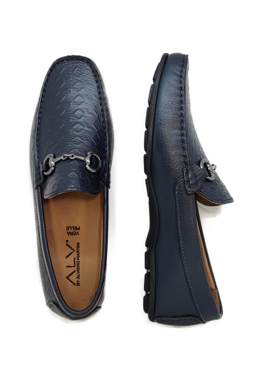 ALV206 BLUE - Mocassino uomo