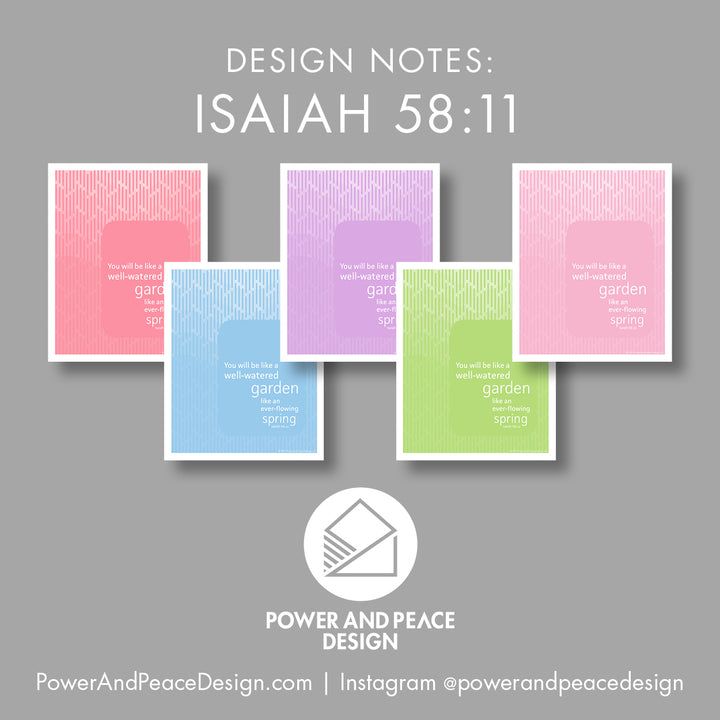 design notes on Isaiah 58:11
