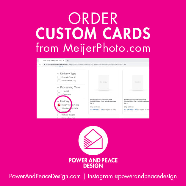 Order Custom Cards from Meijer Photo