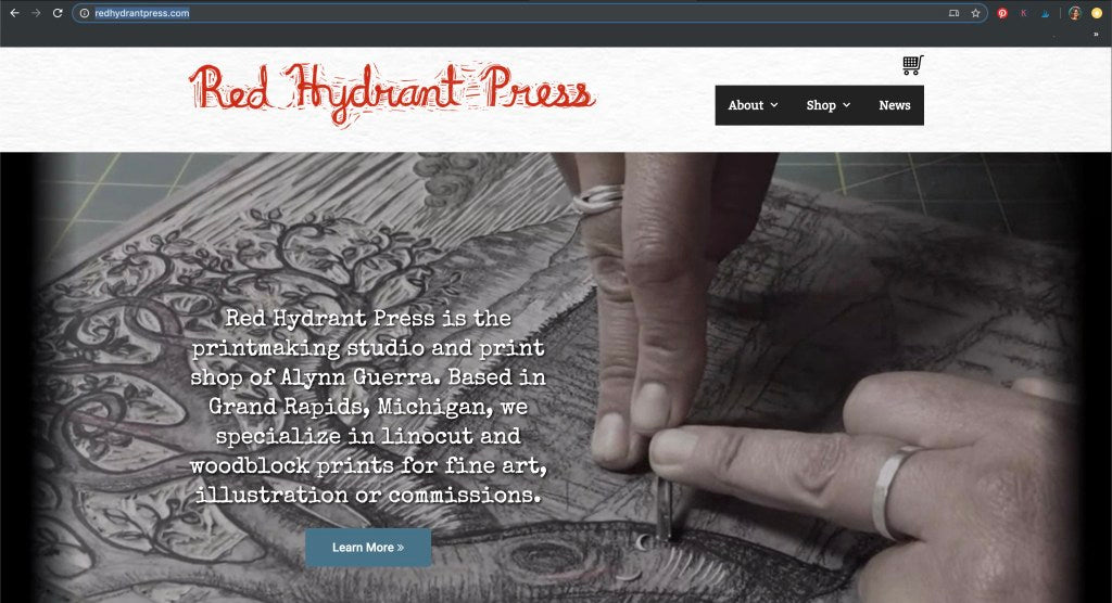 Red Hydrant Press website