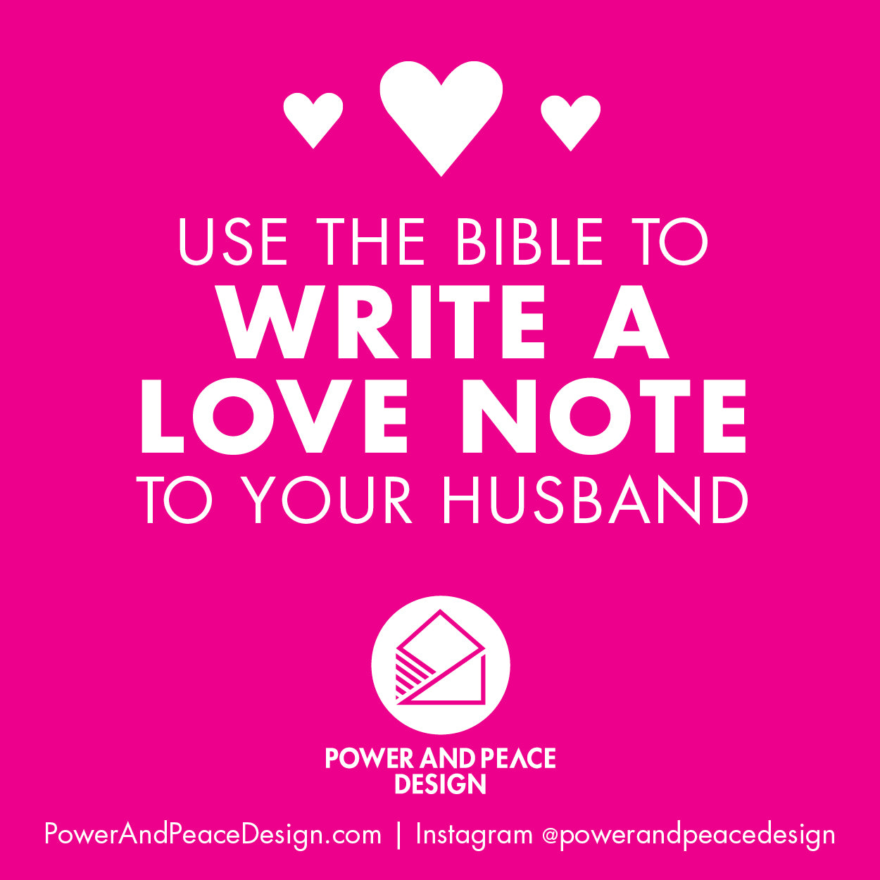 Use the Bible to write a love note to your husband