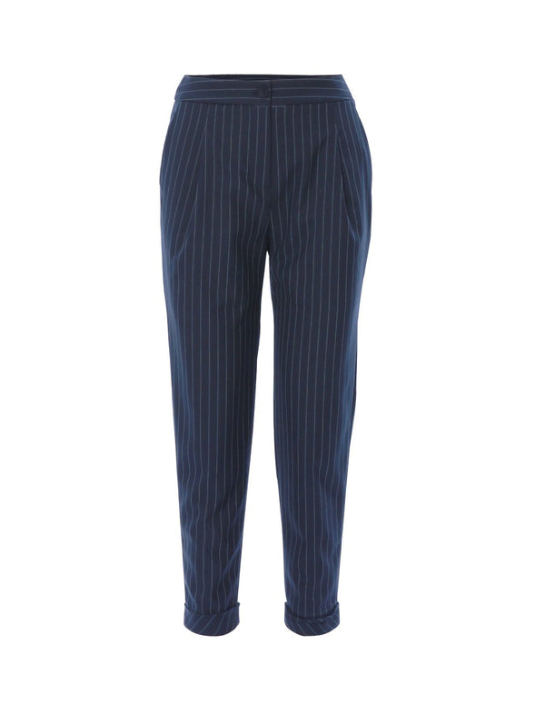 MARYLING Wool Blend Striped Trousers