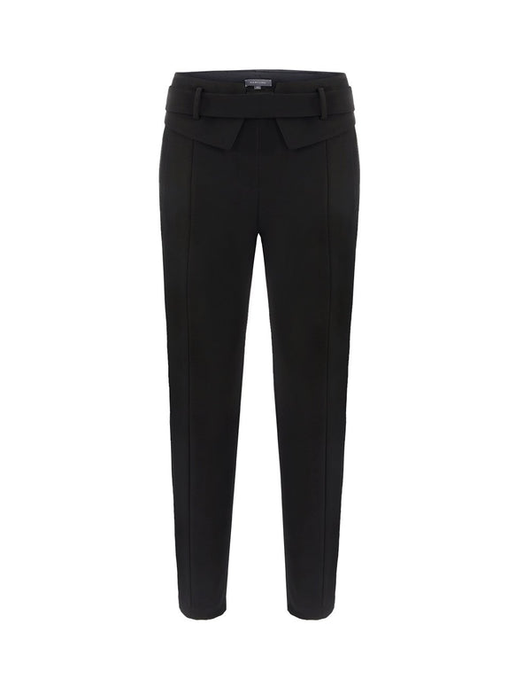 MARYLING Classic Belted Slim Fit Suit Trousers