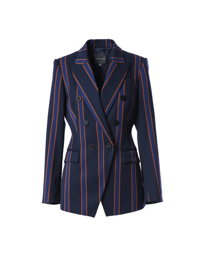 Heavy stripe tailored blazer (5561343541408)