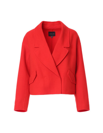 Vibrant cropped wool jacket (5561354322080)