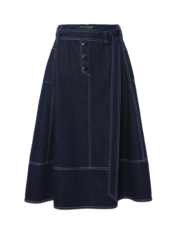WASHED DENIM SKIRT (5767846035616)