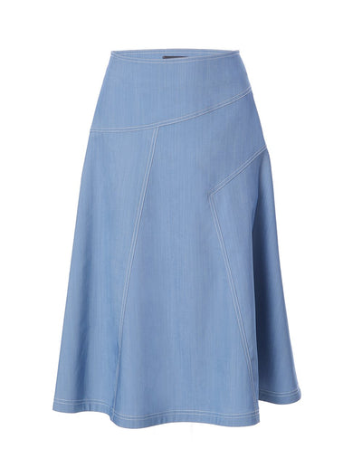 WASHED DENIM SKIRT (5801558081696)