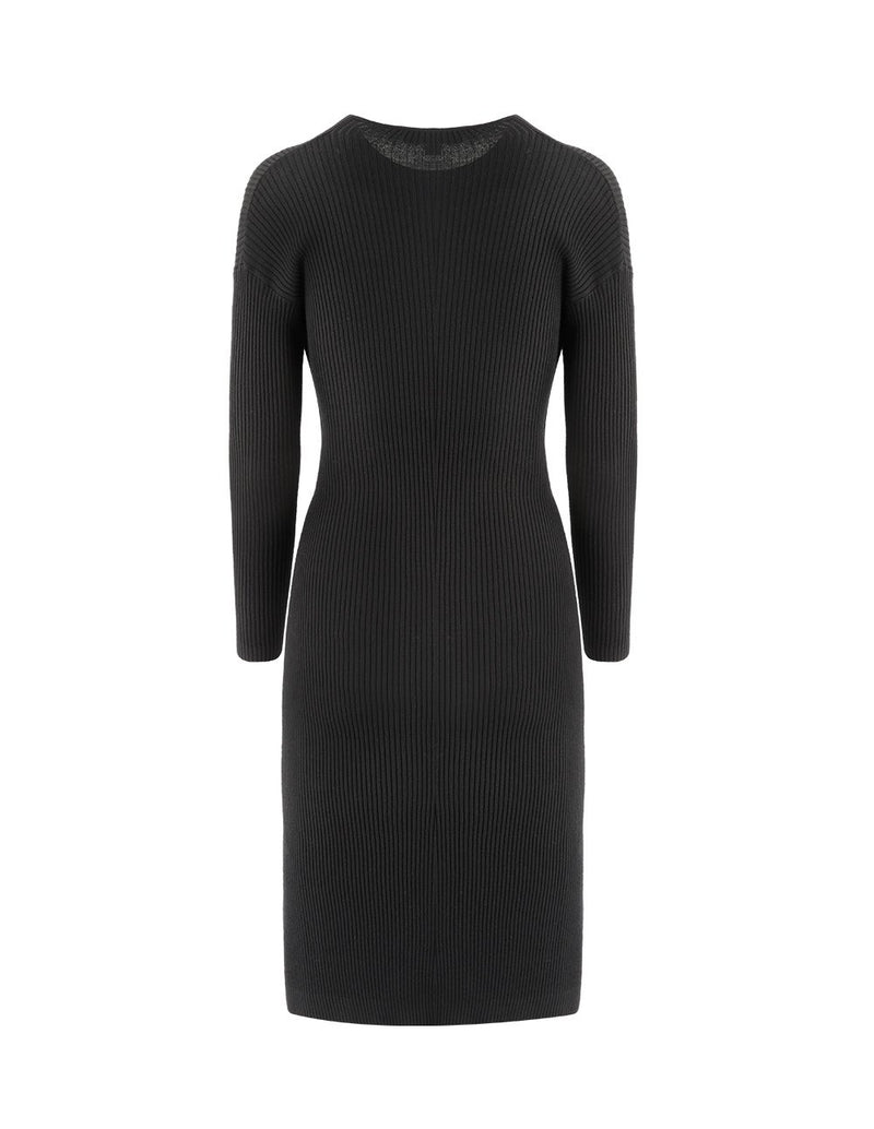 MARYLING Bow-Knot Long Sleeve Slim Fit Knit Dress