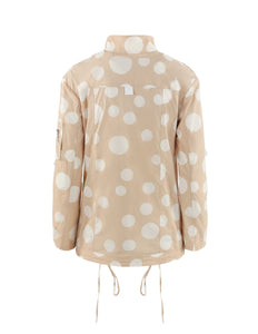 MARYLING Polka Dot Pattern Stand Neck Zip-Up Thin Jacket