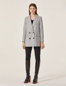 MARYLING Wool Blend Double Breasted Regular Cut Blazer