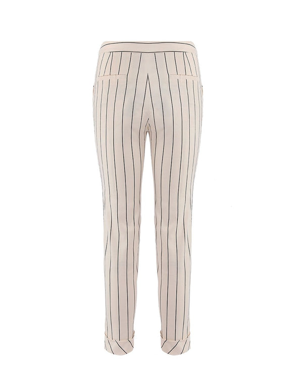 MARYLING Classic Striped Slim Fit Suit Trousers