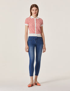 MARYLING Washed Denim Slim Fit Tight Jeans