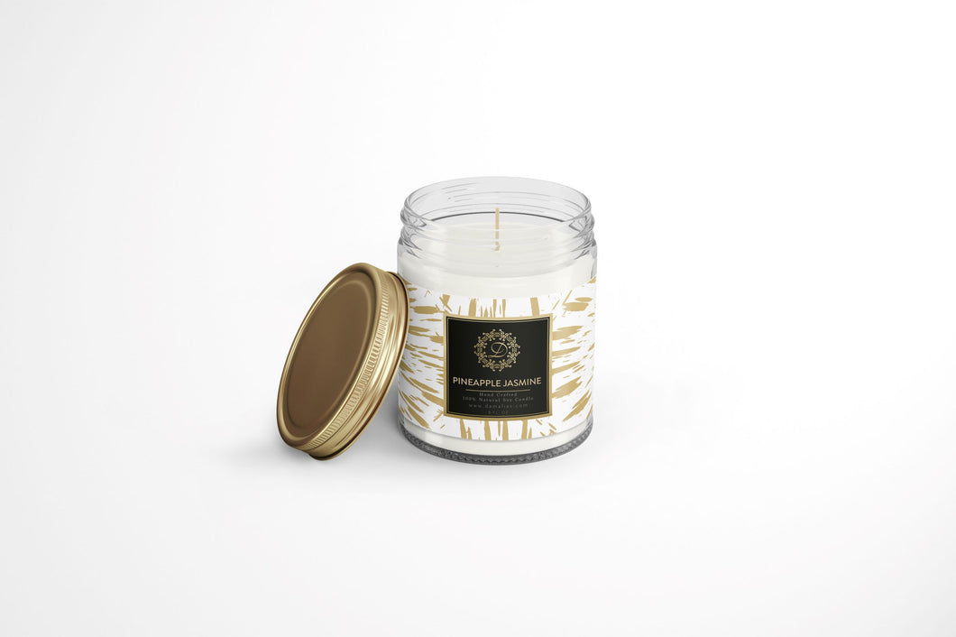 Pineapple Jasmine  8 oz. Scented Soy Candle