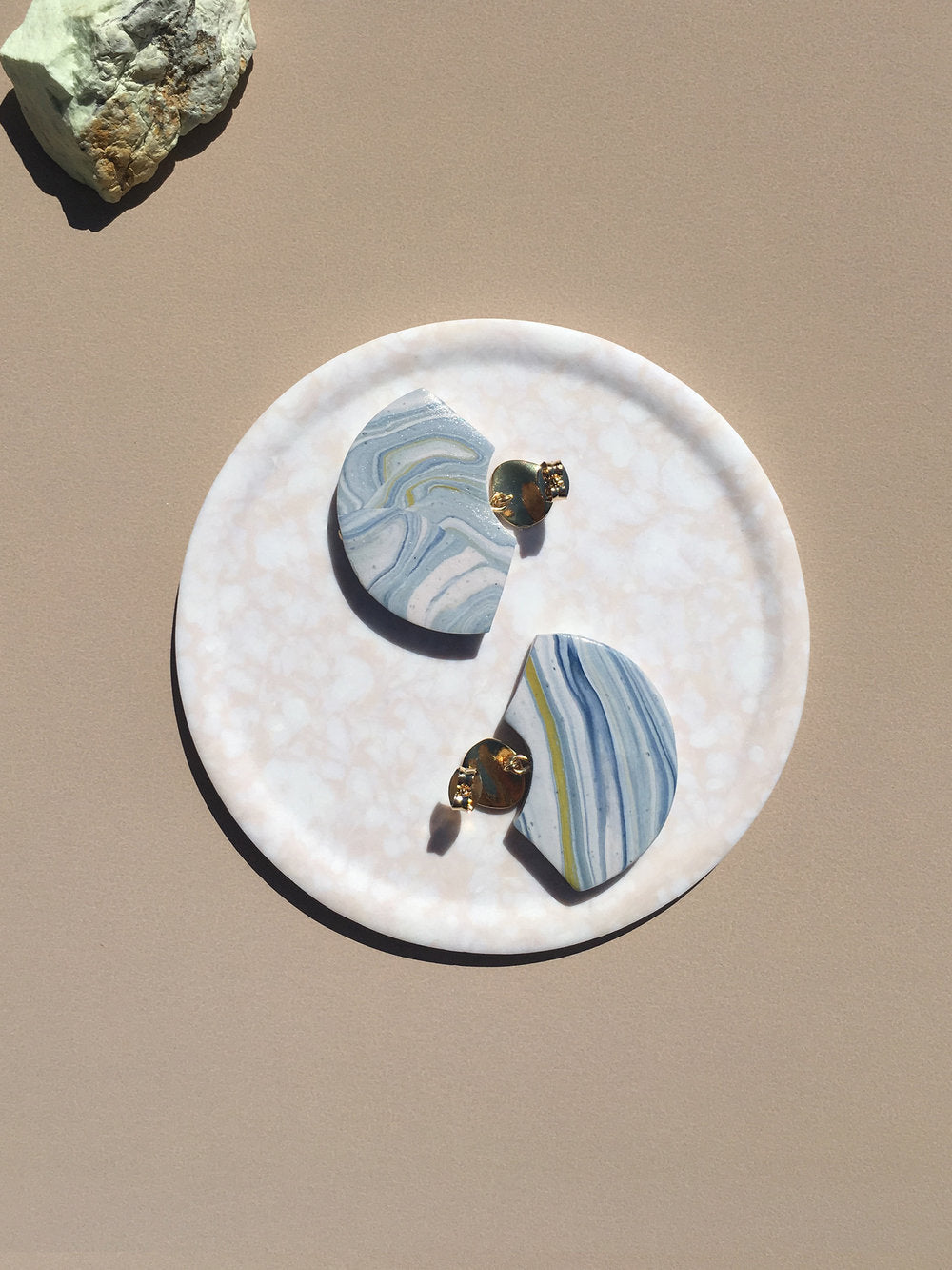 Element Earrings - Blue Gneiss