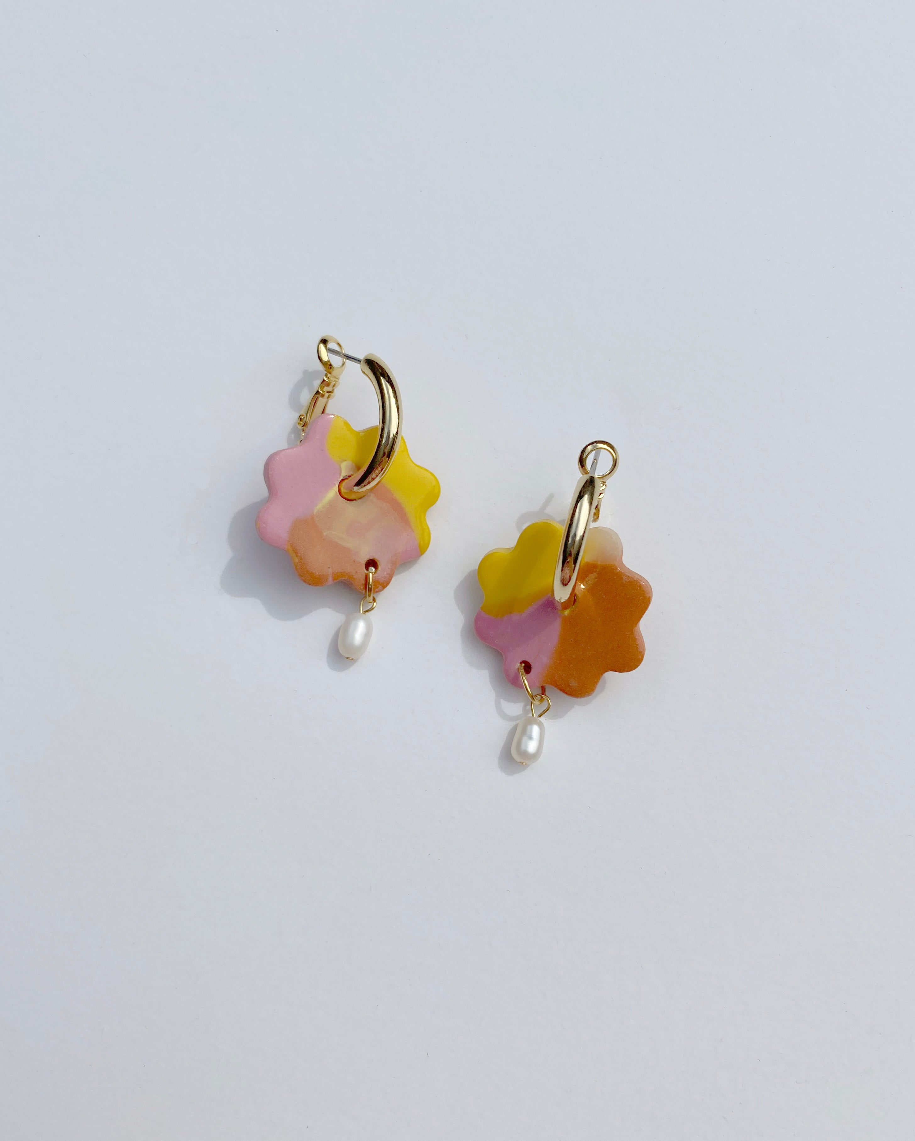 Aacute  Floweret Earrings - Poppy