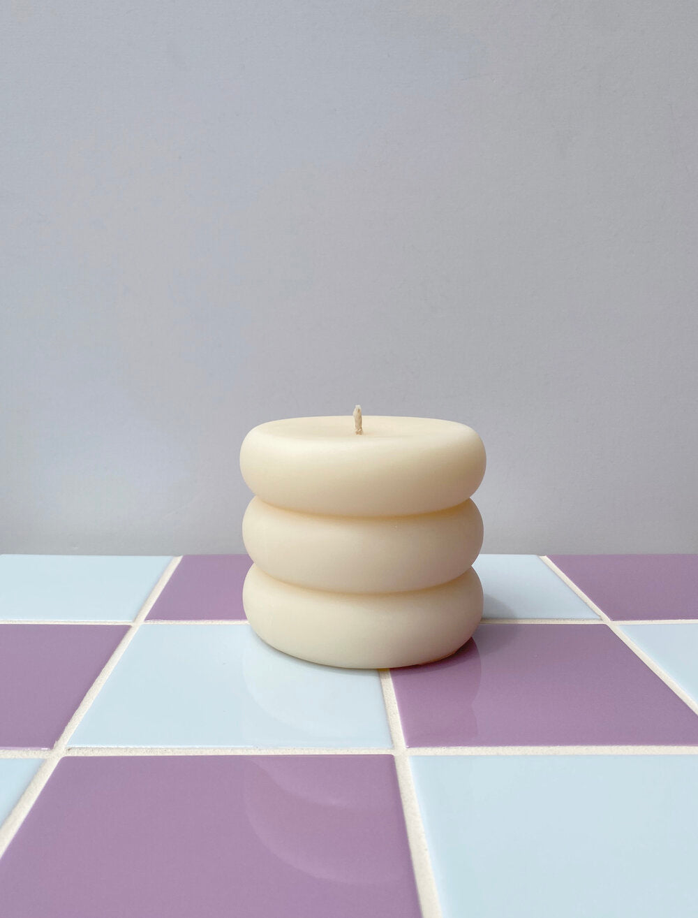 You Me Bones Rolly Polly Candle in White