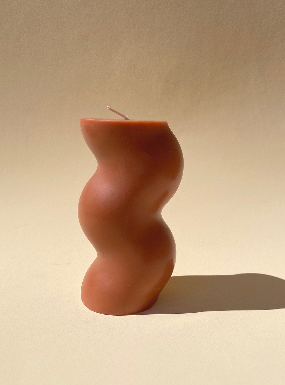You Me Bones Thicc Squiggly Candle in Terracotta
