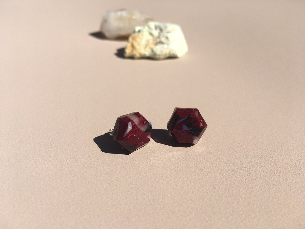 Aacute Remain Geo Studs - Syrah