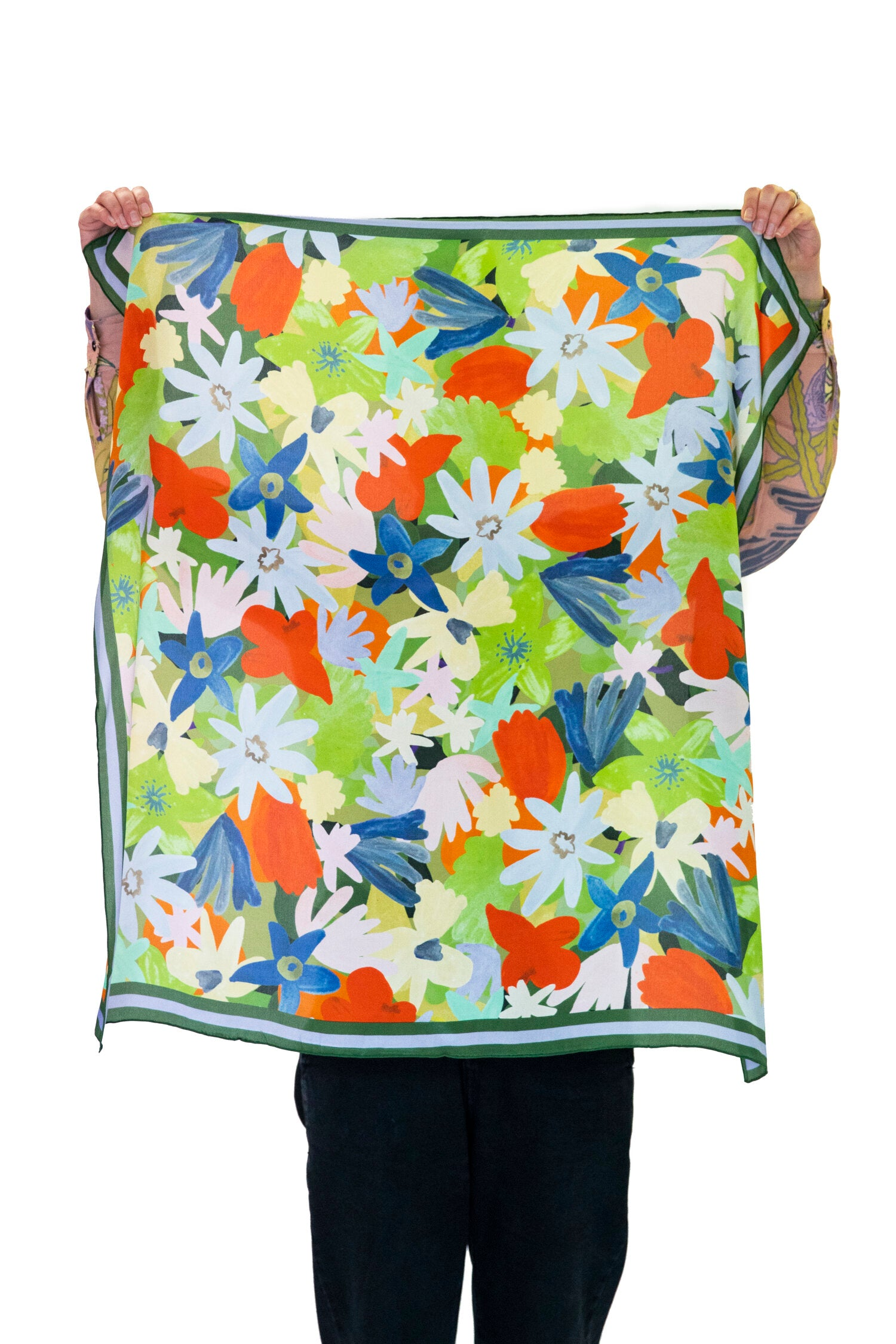 Tara Whalley Flower Face Silk Scarf