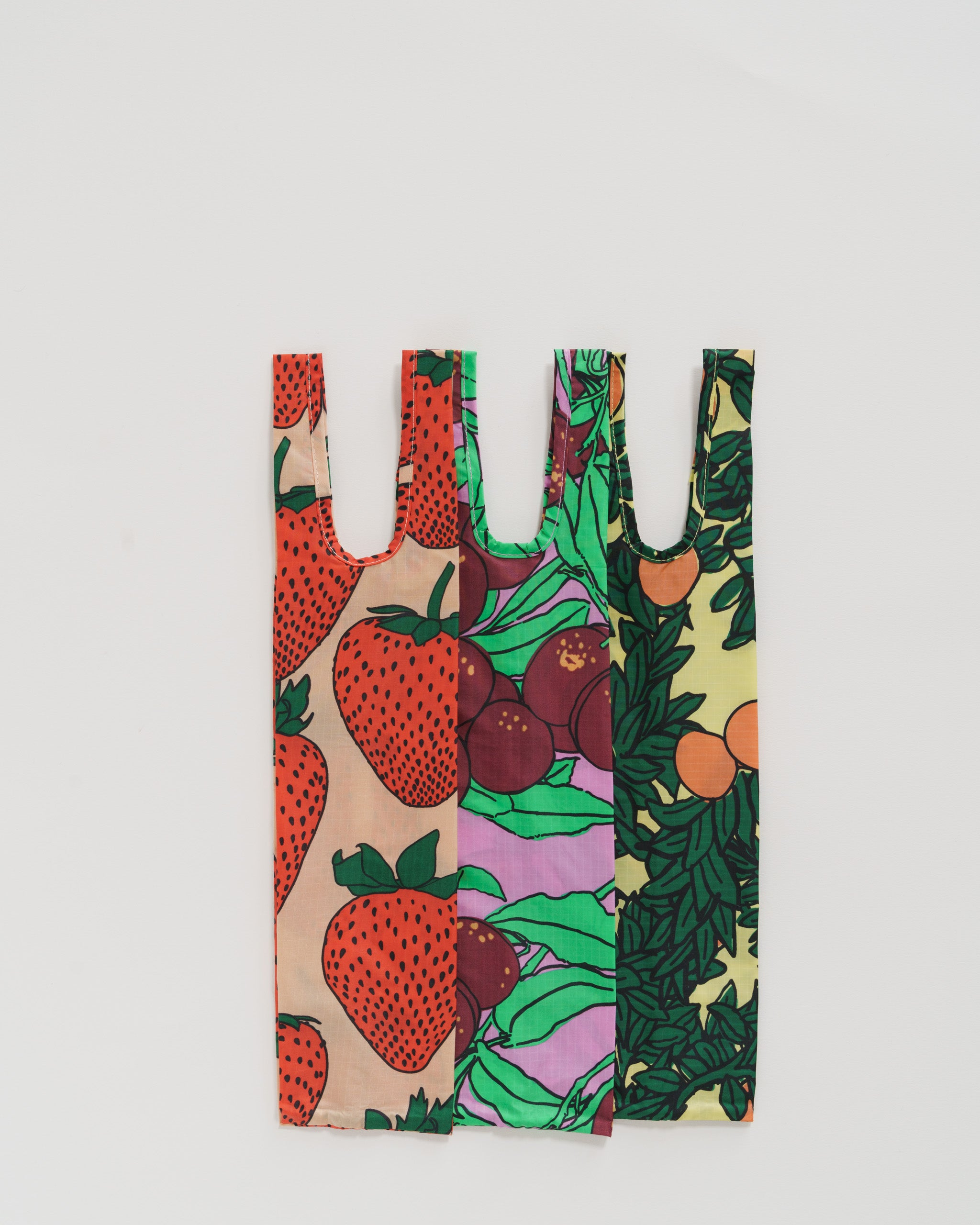 Baggu Wine Bag Set of 3 in Backyard Fruit