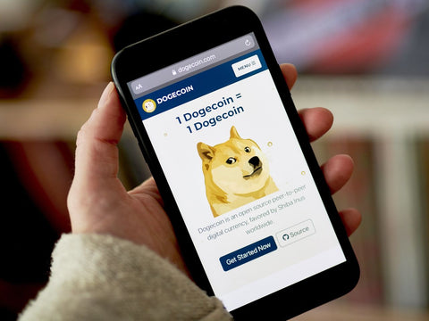 Picture of www.dogecoin.com showing its rise - Dogecoin Merch Store Royal Doge