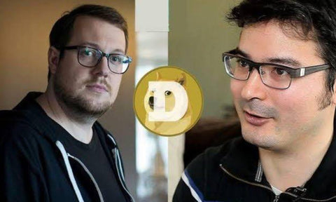 The creators of cryptocurrency Dogecoin. Jackson palmer and billy markus