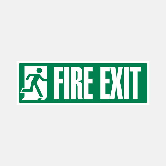 Fire Exit Sign Bold Raymac Signs