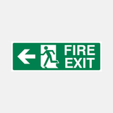 Fire Exit Left Sign Raymac Signs