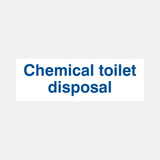 Chemical Toilet Disposal Sign Raymac Signs