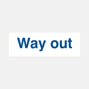 Way Out Sign Raymac Signs