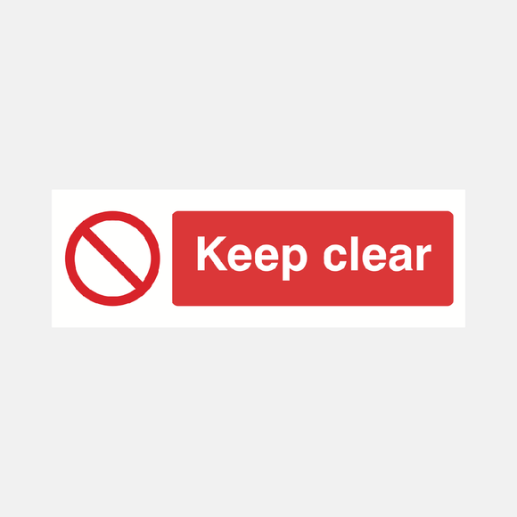 Keep Clear Sign Raymac Signs