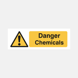 Danger Chemicals Sign Raymac Signs