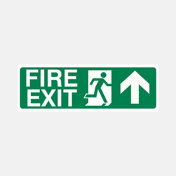 Fire Exit Straight Ahead Sign Raymac Signs