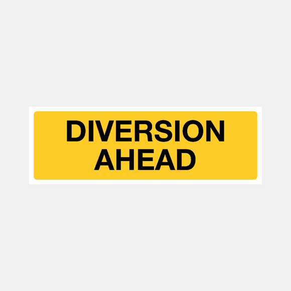 Flood Warning Diversion Ahead Sign Raymac Signs