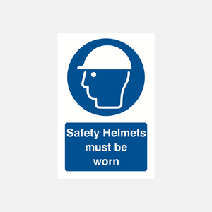 Safety Helmets Must Be Worn Sign Raymac Signs