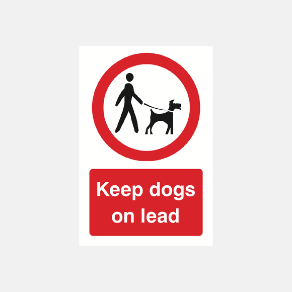 Keep Dogs On Lead Sign Raymac Signs